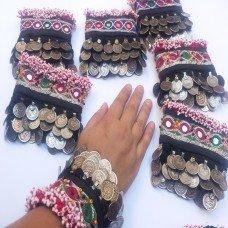 3 layer coins afghan kuchi tribal bracelet # 904