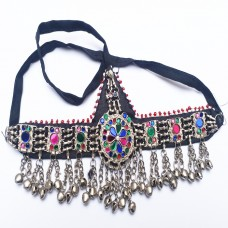 Vintage belly dance Spiked Afghan Headdress-1058