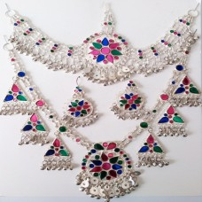 afghan jewellery necklace set # 1099