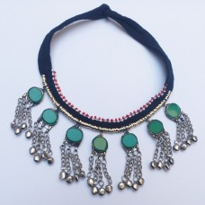 Kuchi Necklace Green stone-424