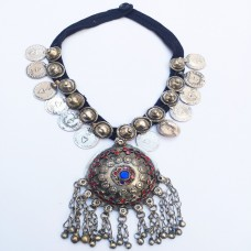 Afghan ethnic Tribal kuchi Choker with coins#672