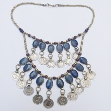 Afghan Belly Dance Tribal Metal Coins Necklace # 983