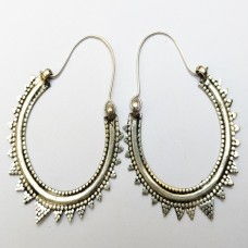 Nomad Tribal Saw Shape Antique Earring # 1119