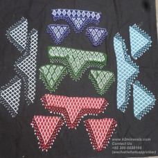 Afghan Tribal beaded patch set # 779