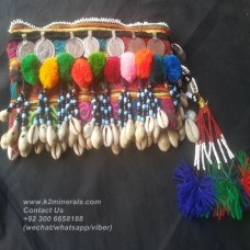 afghan embroidery mirror hand clutch-882